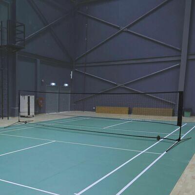 HOMCOM Badmintonnetz   Tragbar   Volleyball- und Tennis-Netz   2 Höhen   94/158cm   400 x 60 cm   Tragetasche