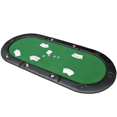 HOMCOM® Pokerauflage Tischauflage mit Tasche Grün 200x90cm