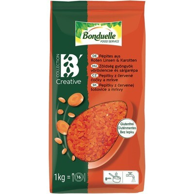 Grosspackung Bonduelle Pepites rote Linsen/Karotten6 x 1 kg = 6 kg