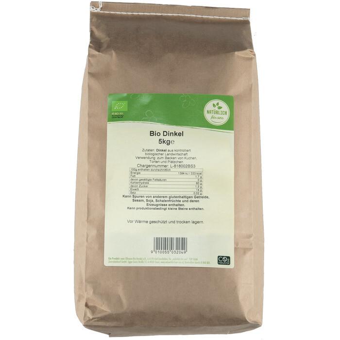 Grosspackung natürlich für uns Bio Dinkel 5 kg