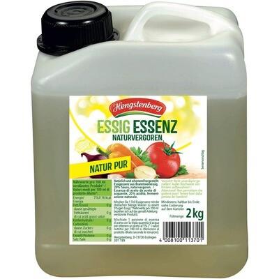 Grosspackung Hengstenberg Essig Essenz hell 20% 4 x 2 kg