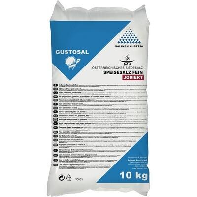 Grosspackung Gustosal Speisesalz fein, jodiert Sack 10 kg
