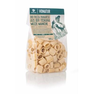 Grosspackung Vonatur Pasta Panarese Bio Mezze Maniche 8 x 500 g = 4 kg