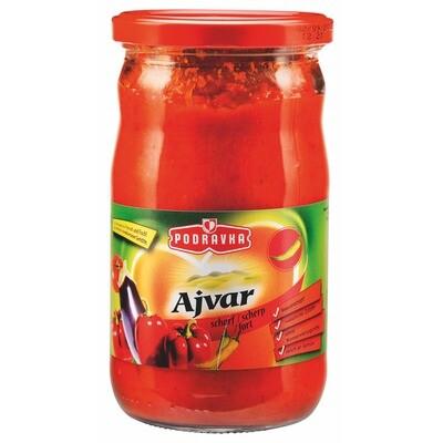 Grosspackung Podravka Ajvar Gemüsemischung scharf 12 x 690 ml = 8,28 Liter