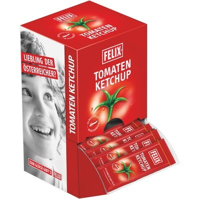 Grosspackung Felix Portionen Ketchup mild 100x20g = 2 kg