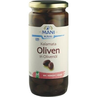 Grosspackung Mani Bio Oliven schwarz mit Kern 6 x 445 g