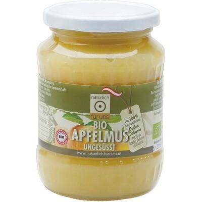 Grosspackung natürlich für uns Bio Apfelmus ohne Zucker 12 x 370 ml