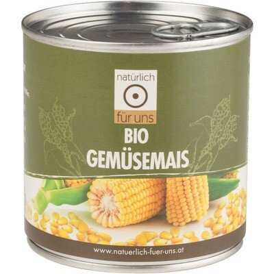 Grosspackung natürlich für uns Bio Gemüsemais 12 x 340 g