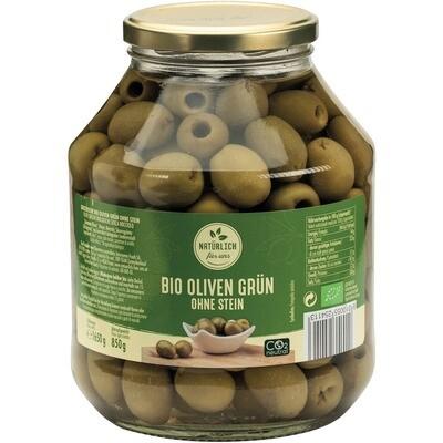 Grosspackung natürlich für uns Bio Oliven grün ohne Kern 6 x 1,65 kg