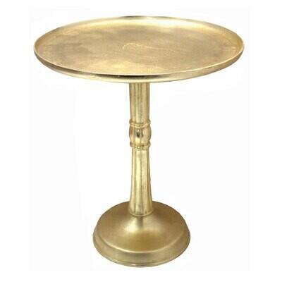 Beistelltisch Adlon rund: ø 44 x H 52 cm vergoldet Metall Dekotisch Couchtisch klassisches Design Aluminium