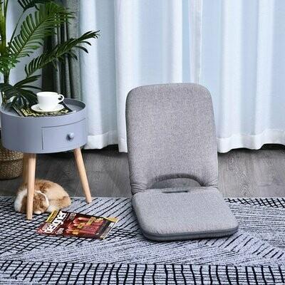 HOMCOM Sitzkissen mit verstellbarer Rückenlehne   Bodenstuhl   Sitzsack   55 x 45 x 67 cm