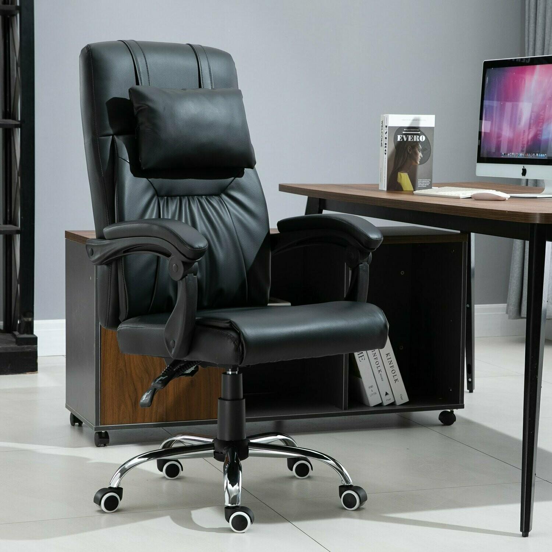 Vinsetto® Bürostuhl Drehstuhl Massagekopfkissen Höhenverstellbar 90-135° Rückenlehne PU 64 x 63 x 113-121 cm