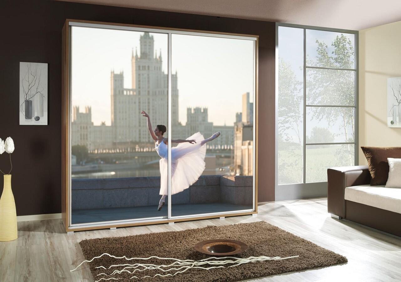 Schiebetürenschrank / Kleiderschrank mit Schiebetür PENELOPA 205cm Motiv: Ballett I