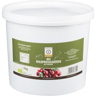 Grosspackung natürlich für uns Bio Wildpreiselbeeren Fruchtanteil 46 % 5 kg