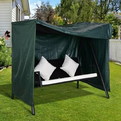 Outsunny® Abdeckung für Gartenschaukel / Hollywoodschaukel Schutzhülle Wasserfest Sonnenschutz Oxford Grün