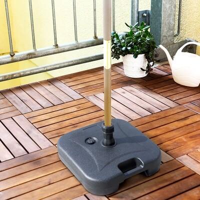 Outsunny® Sonnenschirmständer Schirmständer Schirmhalter befüllbar mit Sand Wasser rund 46 x 45 x 26 cm bis zu 30 kg