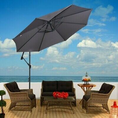 Outsunny® Sonnenschirm Gartenschirm Balkonschirm Strandschirm Marktschirm knickbar 3 Farbe