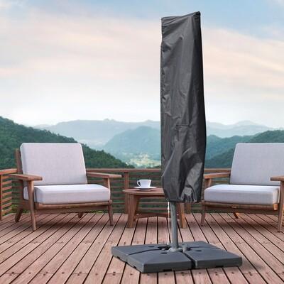 Outsunny® Sonnenschirm Schutzhülle bis Ø300cm Abdeckung Schirmschutzhaube mit Reißverschluss Schwarz 200 x 50/80 cm