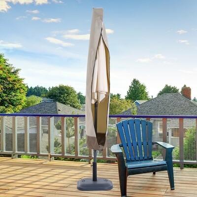 Outsunny® Sonnenschirm Schutzhülle | Schirmschutzhaube | Oxfordstoff | Ø50 x 190 cm | Creme, Braun