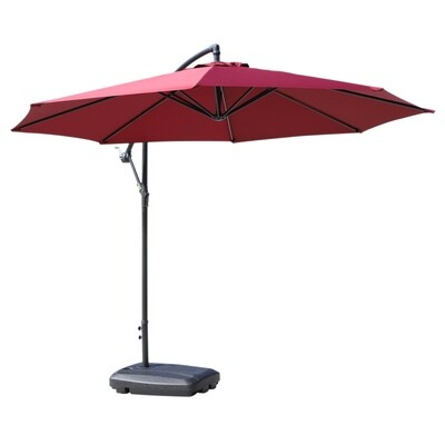 Outsunny® Sonnenschirmständer Schirmständer Schirmhalter befüllbar mit Sand Wasser abgerundete Ecken Schwarz 60 x 80 x 16 cm bis zu 65 kg