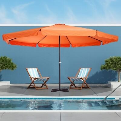 Outsunny® grosser Sonnenschirm Gartenschirm Handkurbel Rund 500cm Orange