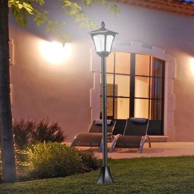 Outsunny® Gartenlaterne Solar Laterne 40 Lumen Schwarz H160cm