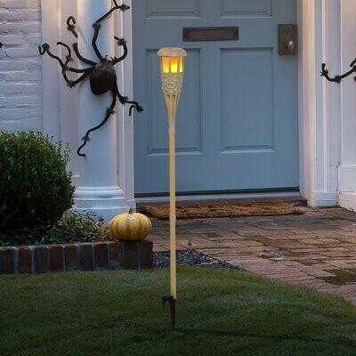 Outsunny® Solarleuchte Gartenlicht 2er-Set Lampe Flamme, Fackel 36 LEDs Wasserdicht ABS Ø12 x 116 cm