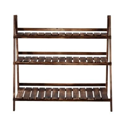 Outsunny® Pflanzentreppe L100 x W37 x H93cm 3 Stufen Tannenholz