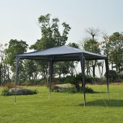 Outsunny® Pavillon Partyzelt 3x3m blau