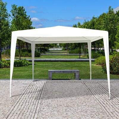 Outsunny® 3x3m Pavillon Partyzelt Bierzelt Gartenzelt Weiss