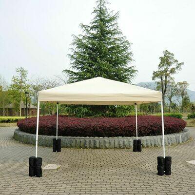 Outsunny® Pavillon Standfuss für Faltpavillon Partyzelt Festzelt 4 Stück 4er-Set schwarz