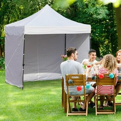 Outsunny® Pavillon Faltpavillon Festzelt Gartenzelt 4 Seitenwände Höhenverstellbar Oxford