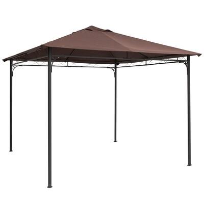 Outsunny® Pavillondach Ersatzdach für Pavillon Pavillonabdeckung Polyester Kaffee 3x3m
