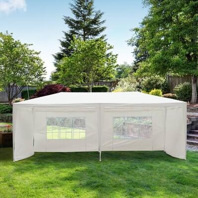 Outsunny® Festzelt 3x6m Pavillon mit Fenster