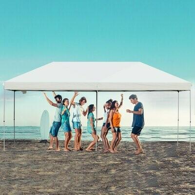 Outsunny® Faltpavillon Festzelt Partyzelt Wasserfestes Gartenzelt Sonnenschutz Stahl Weiss