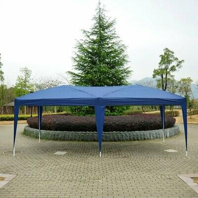 Outsunny® Gartenpavillon faltbar 3x6 m mit Tragetasche, blau