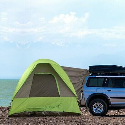 hoOutsunny® Autozelt Campingzelt Reisezelt Sonnenschutz für 4-5 Personen Glasfaser Polyester