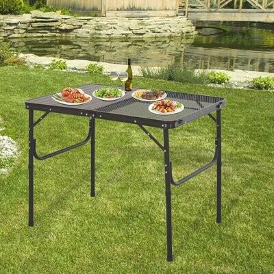 Outsunny® Campingtisch Klapptisch Picknicktisch 2-stufig höhenverstellbar Alu-Legierung