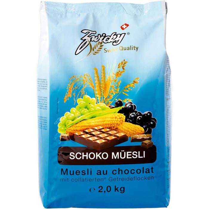 Grosspackung Zwicky Schoko Müesli 3 x 2 kg = 6 kg