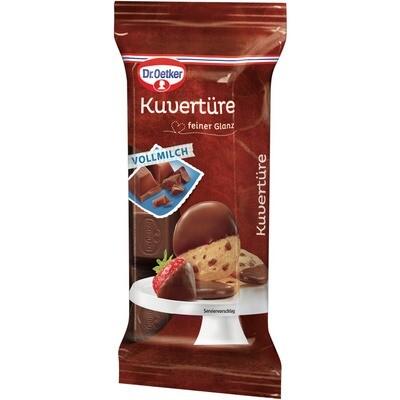 Grosspackung Dr. Oetker Kuvertüre Block Schokolade Vollmilch 24 x 150 g = 3,6 kg