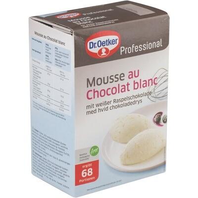 Grosspackung Dr. Oetker Mousse au Chocolat blanc 1 kg