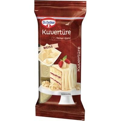 Grosspackung Dr. Oetker Kuvertüre Block Schokolade Weiss 12 x 150 g = 1,8 kg