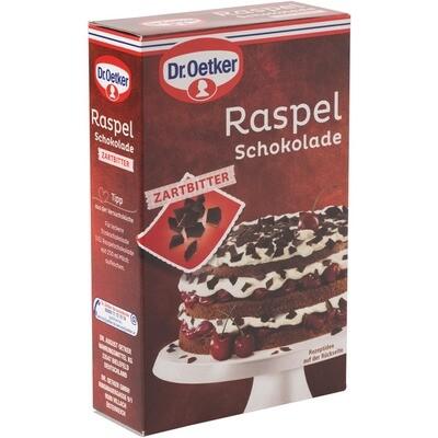 Grosspackung Dr. Oetker Raspelschokolade zartbitter 10x 100 g = 1 kg für Schwarzwälder Kirschtorte