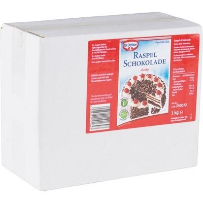 Grosspackung Dr. Oetker Raspel Schokolade 1 kg für Schwarzwälder Kirschtorte