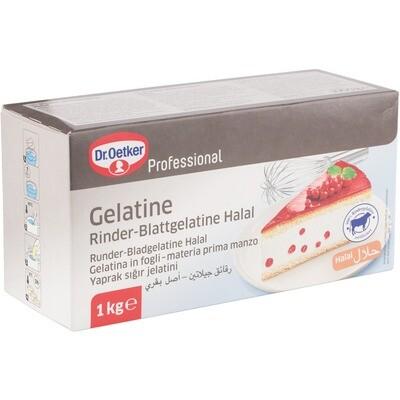 Grosspackung Dr. Oetker Rinder Blattgelatine Halal 1 kg