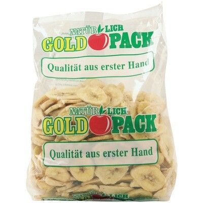 Grosspackung Goldpack Bananenchips 10 x 500 g = 5 kg