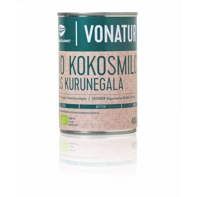 Grosspackung Vonatur Bio Kokosmilch 22 % 12 x 400 ml = 4,8 Liter
