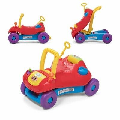 Baby Vivo 2in1 Lauflernwagen / Lauflernhilfe Multifunktional - Rutschauto in Rot