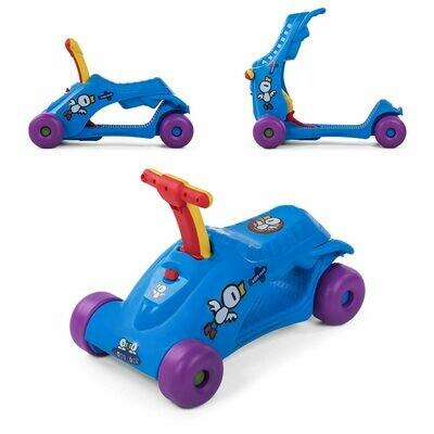 Baby Vivo 2in1 Lauflernwagen für Kinder Multifunktional - Scooter in Blau