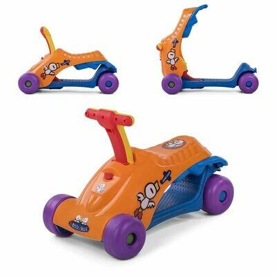Baby Vivo 2in1 Lauflernwagen für Kinder Multifunktional - Scooter in Orange